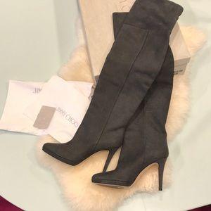 Jimmy Choo Gypsy OTK boots. 39.5.